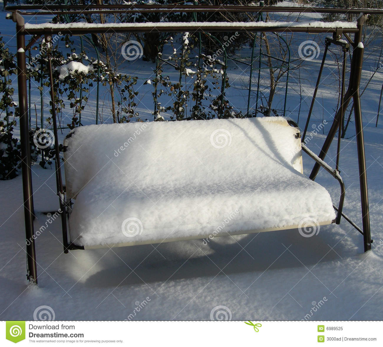 patio furniture in winter stock image image of cover 6989525