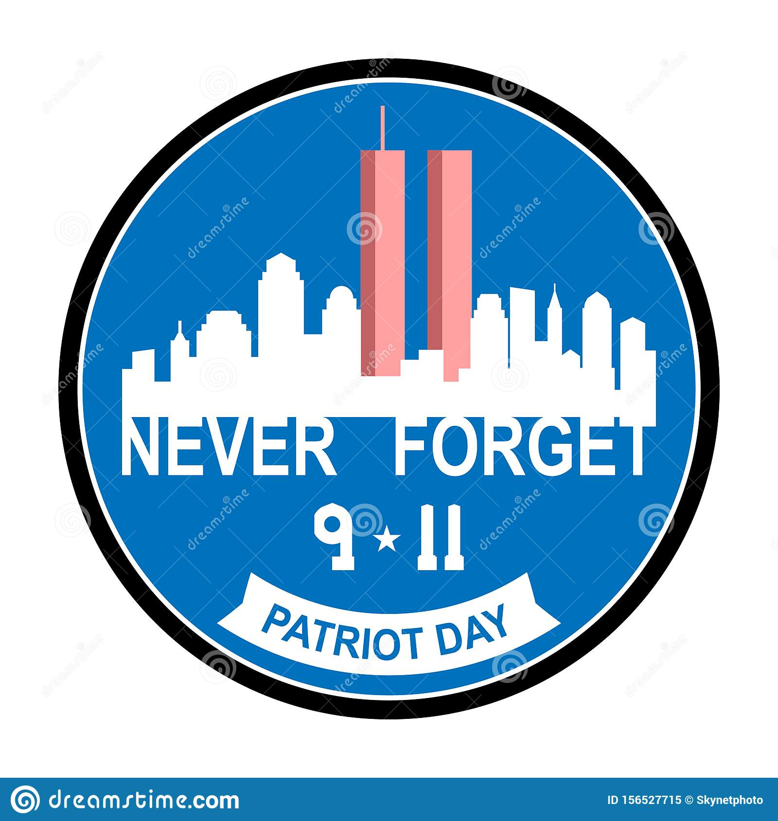 Patriot Day September 11 Stock Vector Illustration Of