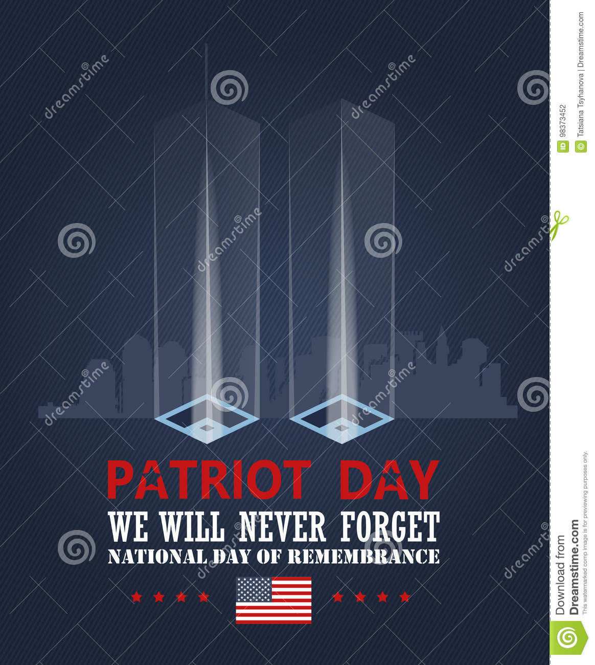 Patriot Day Vector Poster Patriot Day Memorial September
