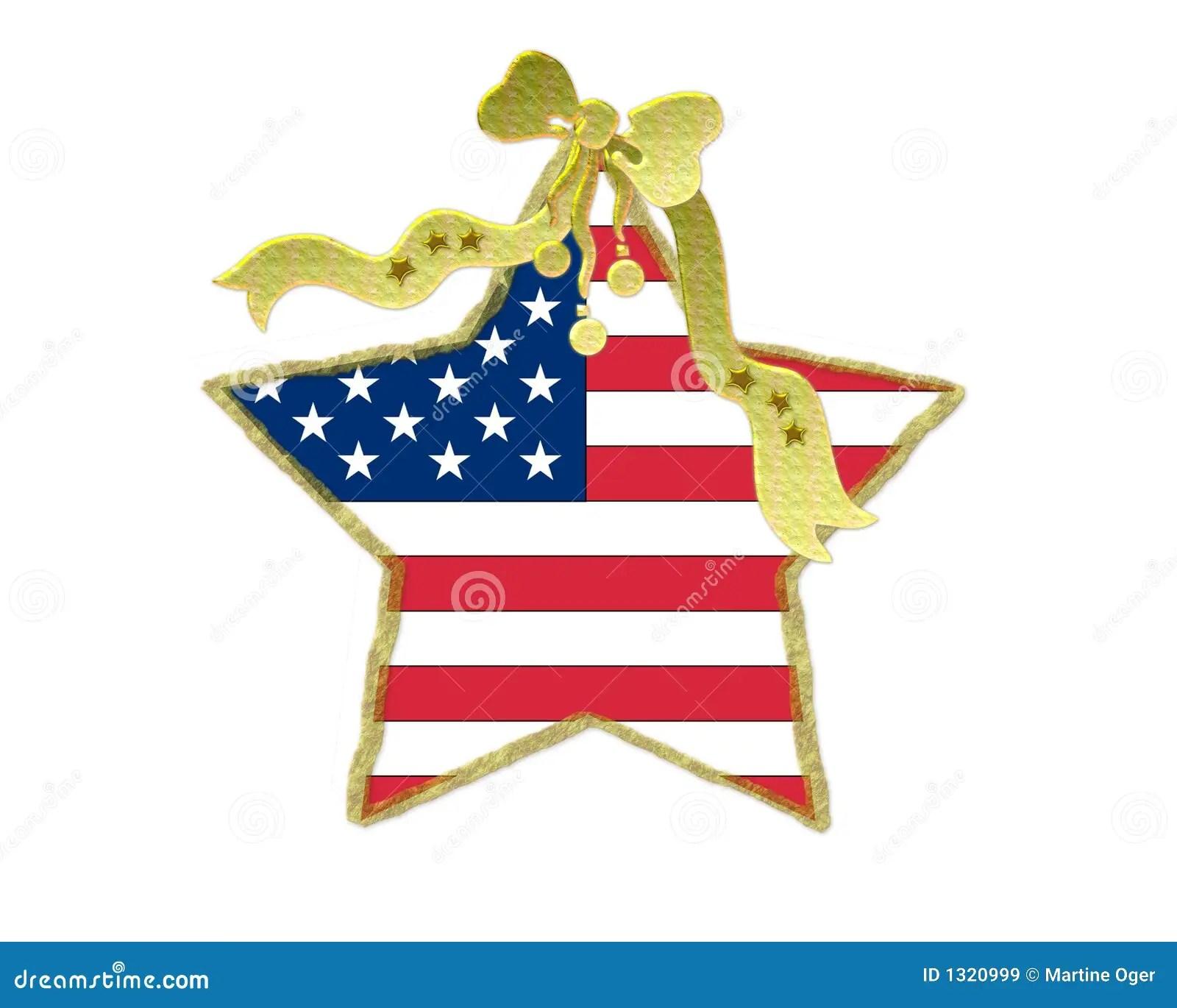 Patriotic Christmas Decoration Stock Image Image 1320999