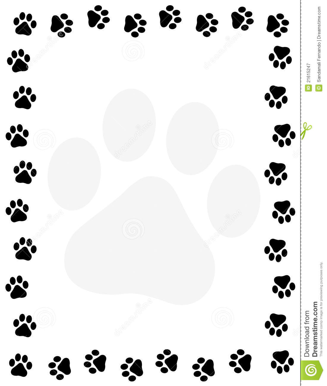 Paw Prints Border Stock Vector Illustration Of Clipart