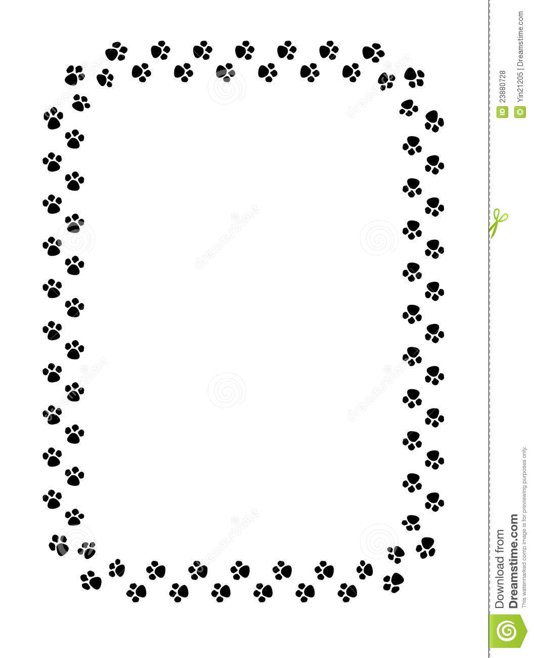 Paw Prints Border Stock Vector Illustration Of Frame
