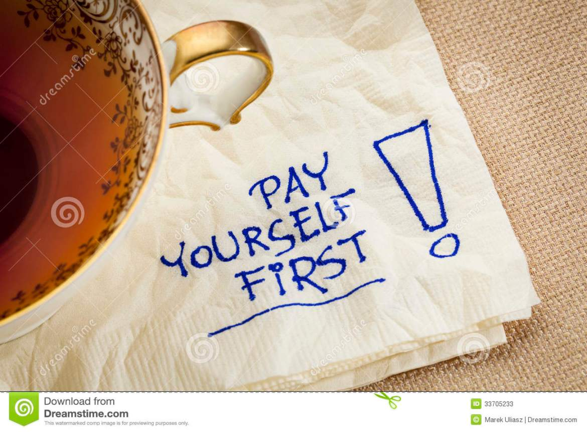 Pay Yourself First Advice Stock Image Image Of