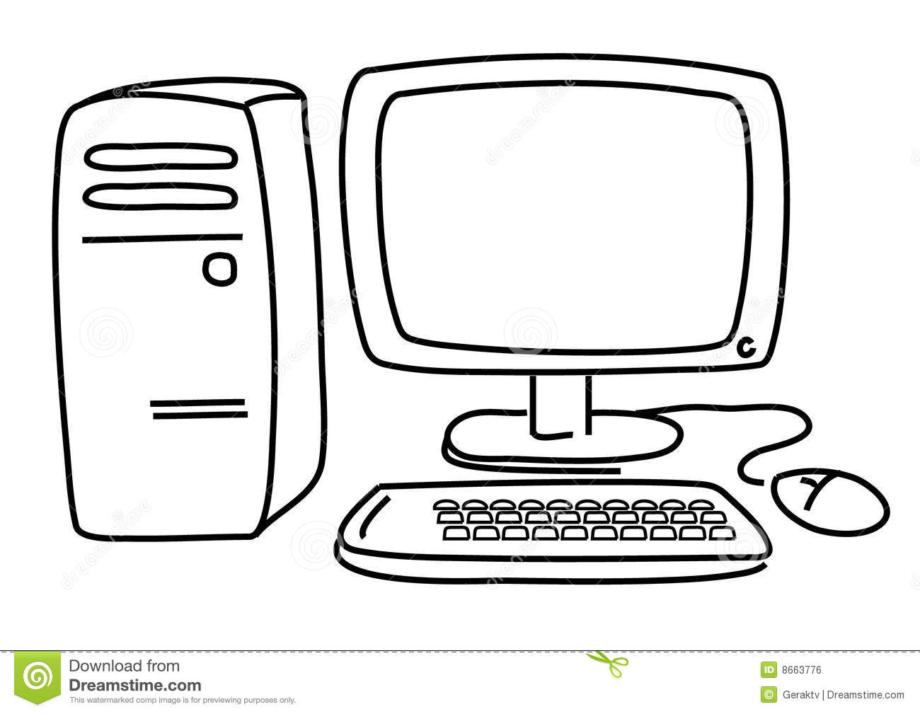 Pc Computer Stock Vector Illustration Of Signs Personal