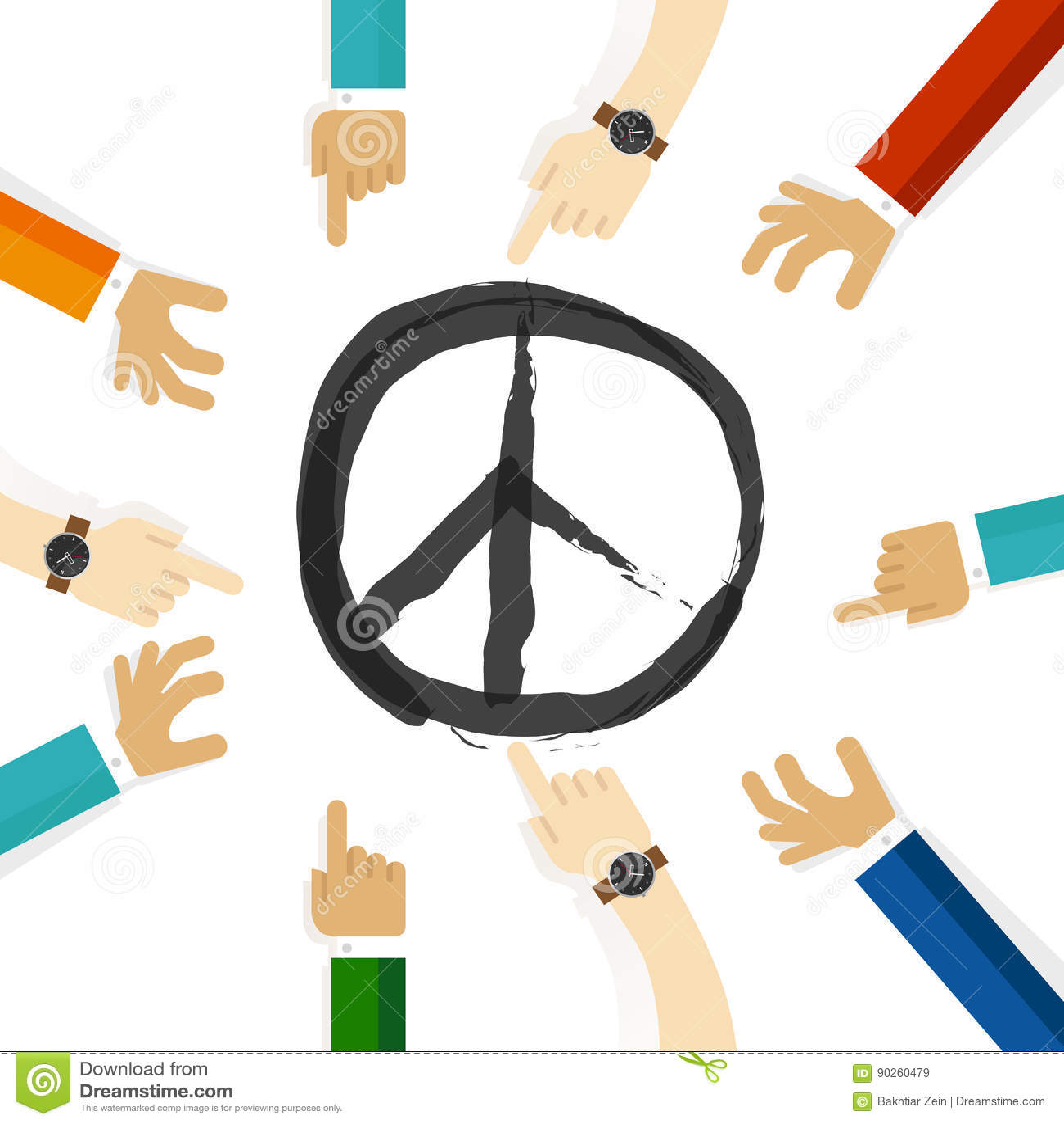 Peace Conflict Resolution Symbol Of International Effort