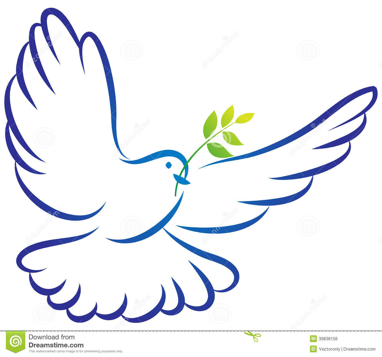 Peace Dove Stock Vector Image 39838156