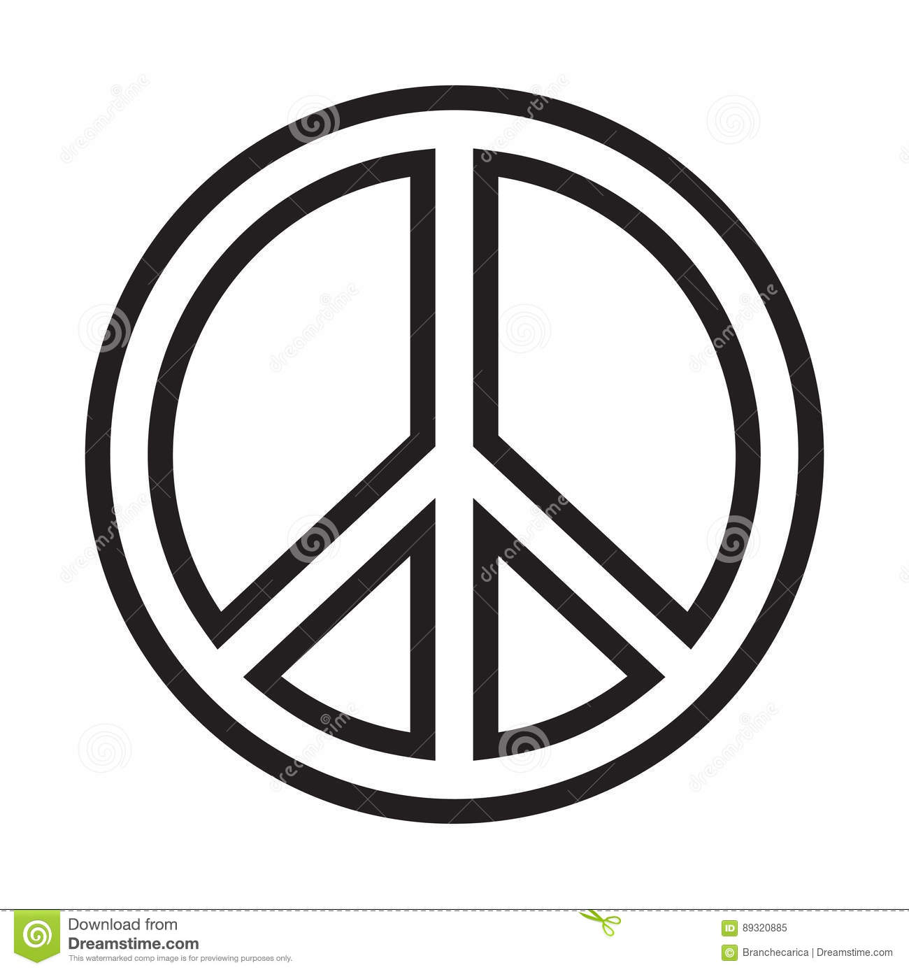 Peace Sign Stock Vector Illustration Of Outline Design