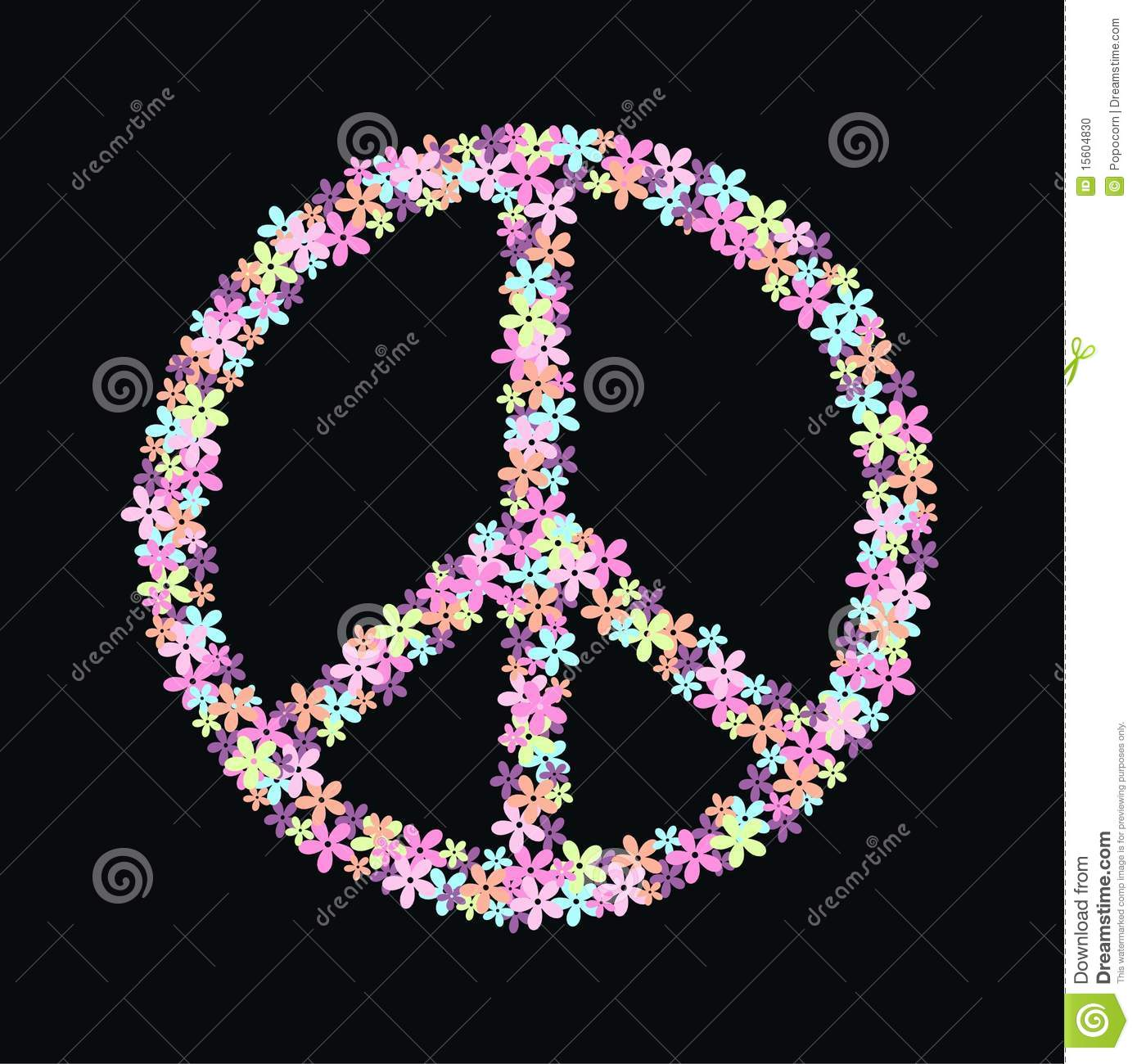 Peace Symbol Of Flowers Stock Photo Image 15604830