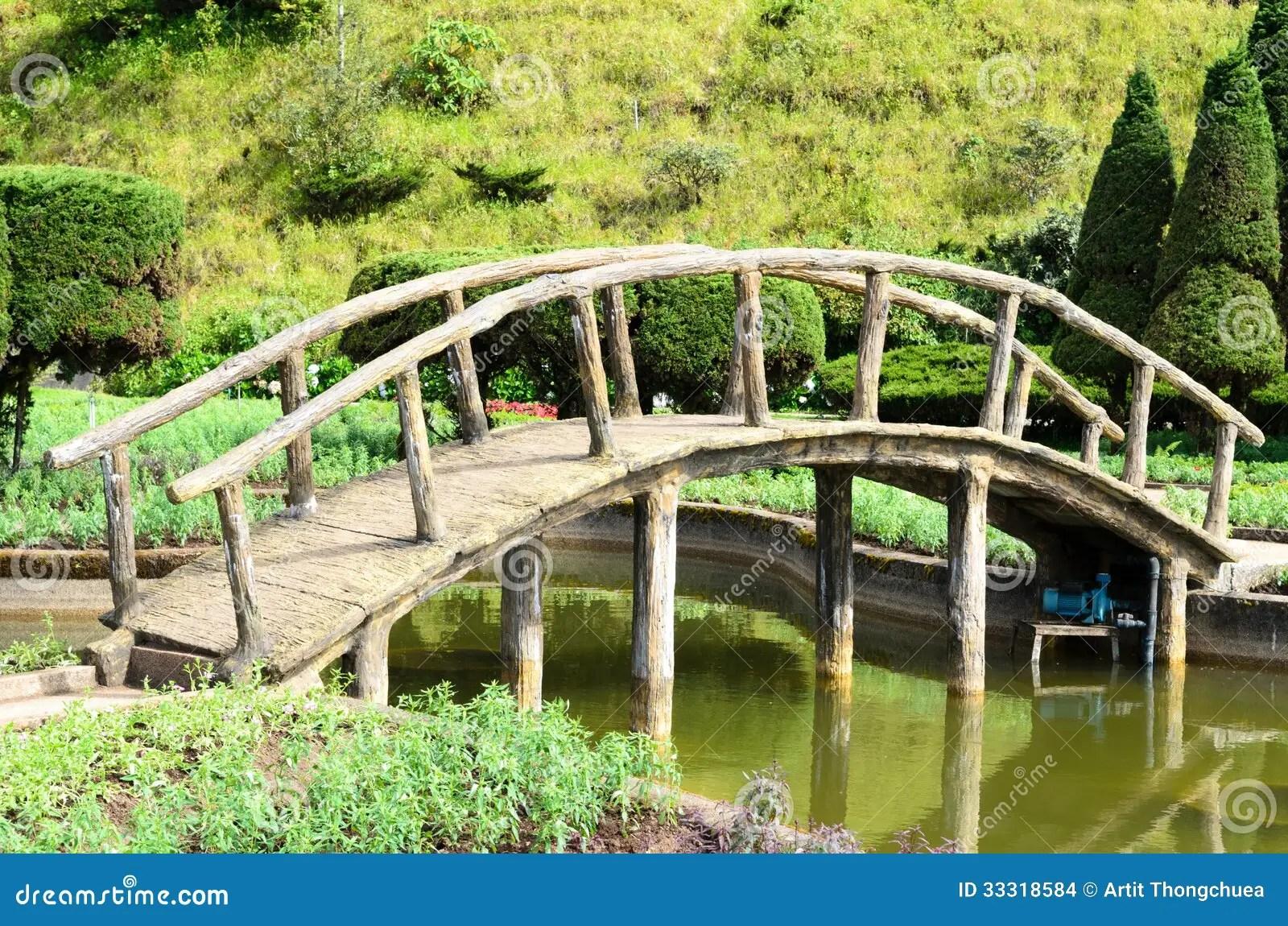 A Peaceful Little Rock Bridge Stock Photo Image Of