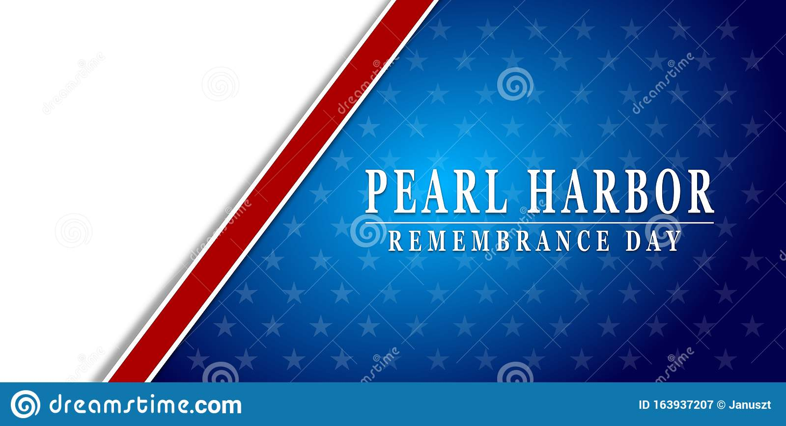 Pearl Harbor Remembrance Blue Background Stock