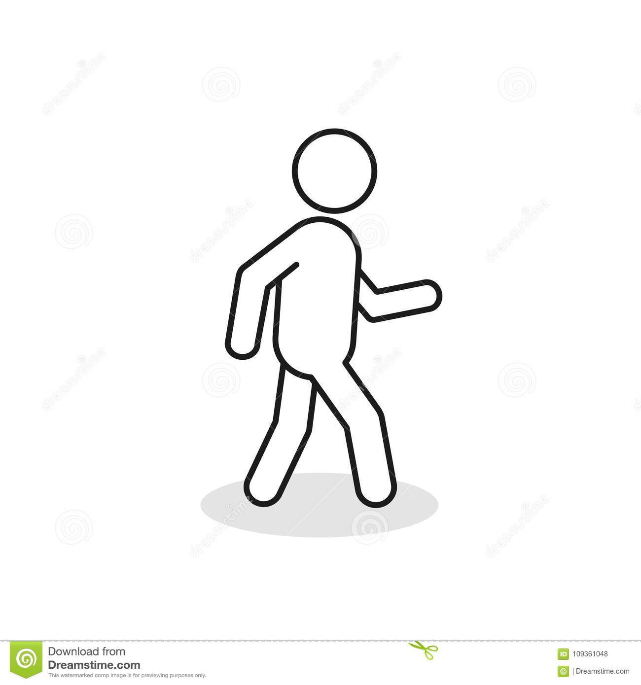 Pedestrian Silhouette Stock Illustrations 1 124