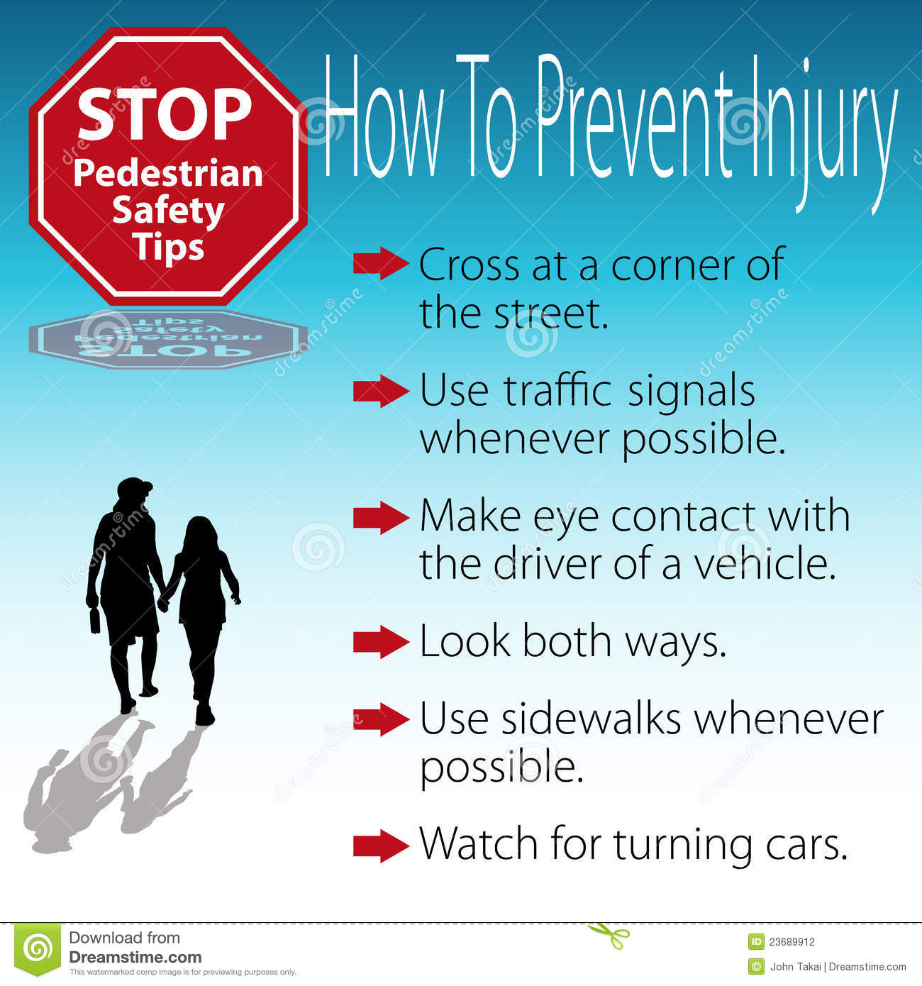 Pedestrian Safety Tips Poster Stock Photography