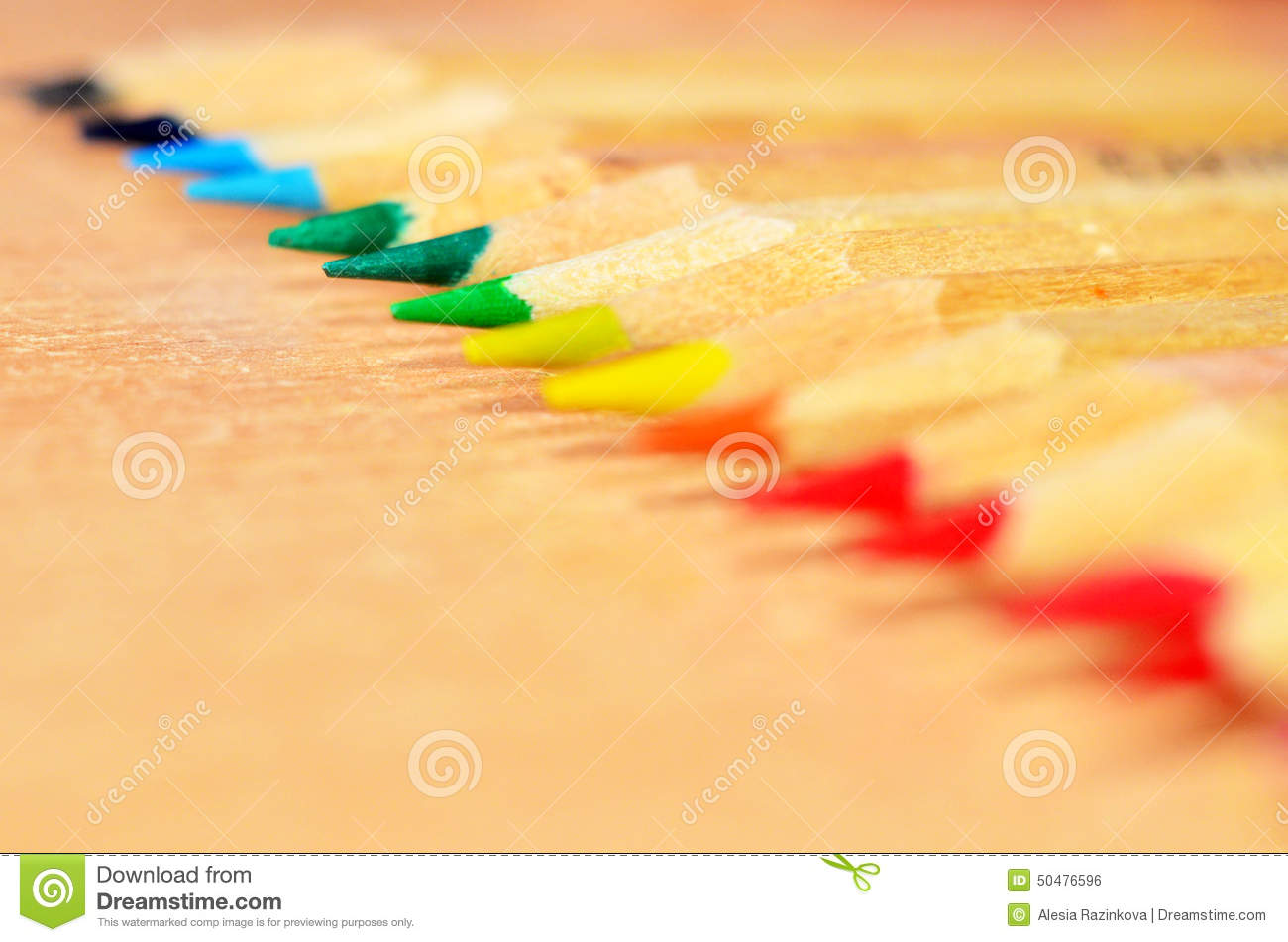 Pencil Tips Stock Photo