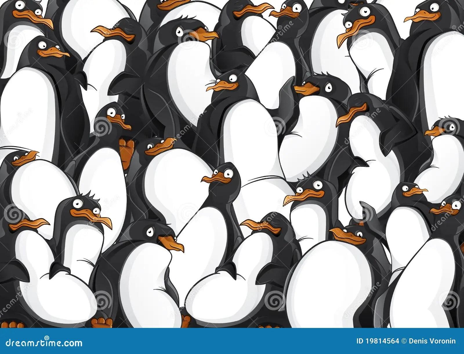 Penguins Pattern Stock Vector Illustration Of Animals