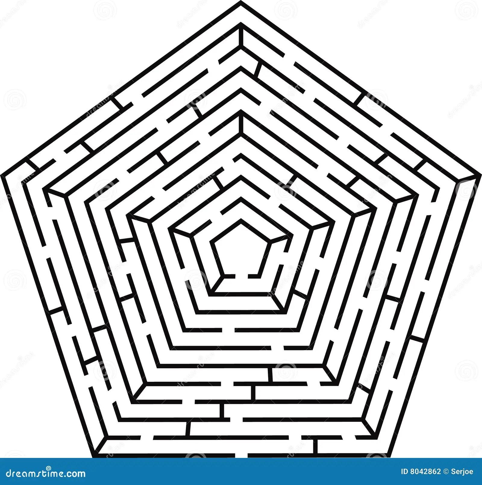 Pentagon Labyrinth Stock Photography