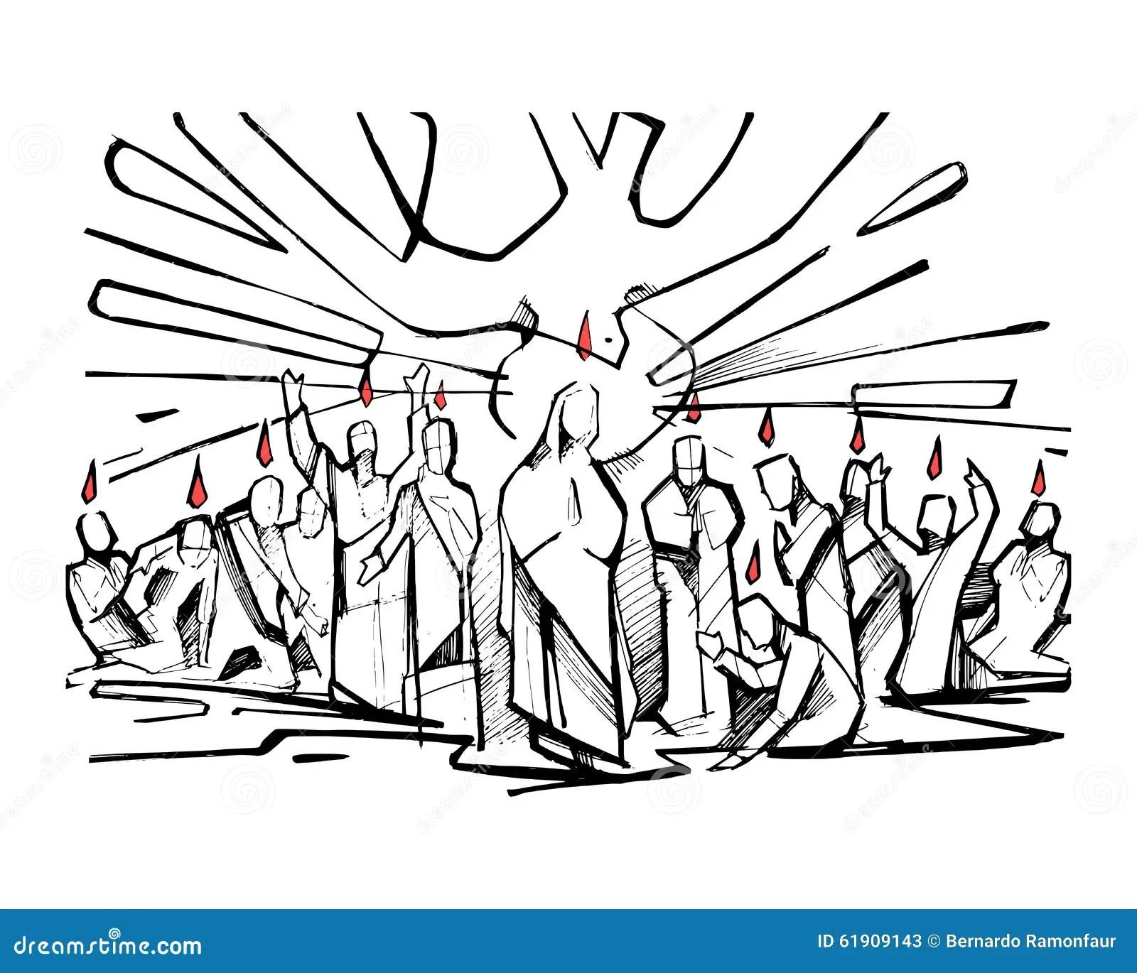 Pentecost Stock Vector Illustration Of Christian