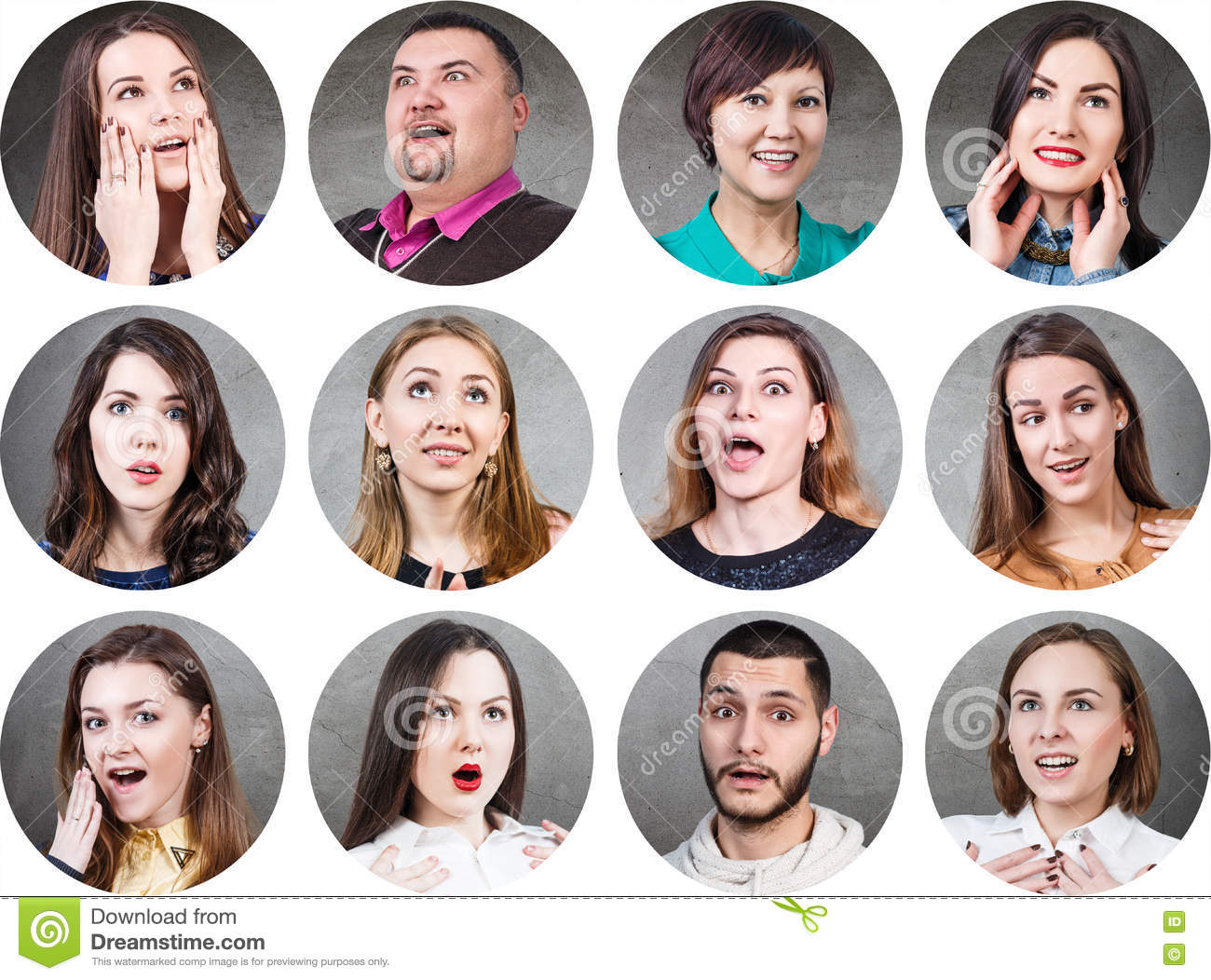 People With Different Facial Expressions Stock Image