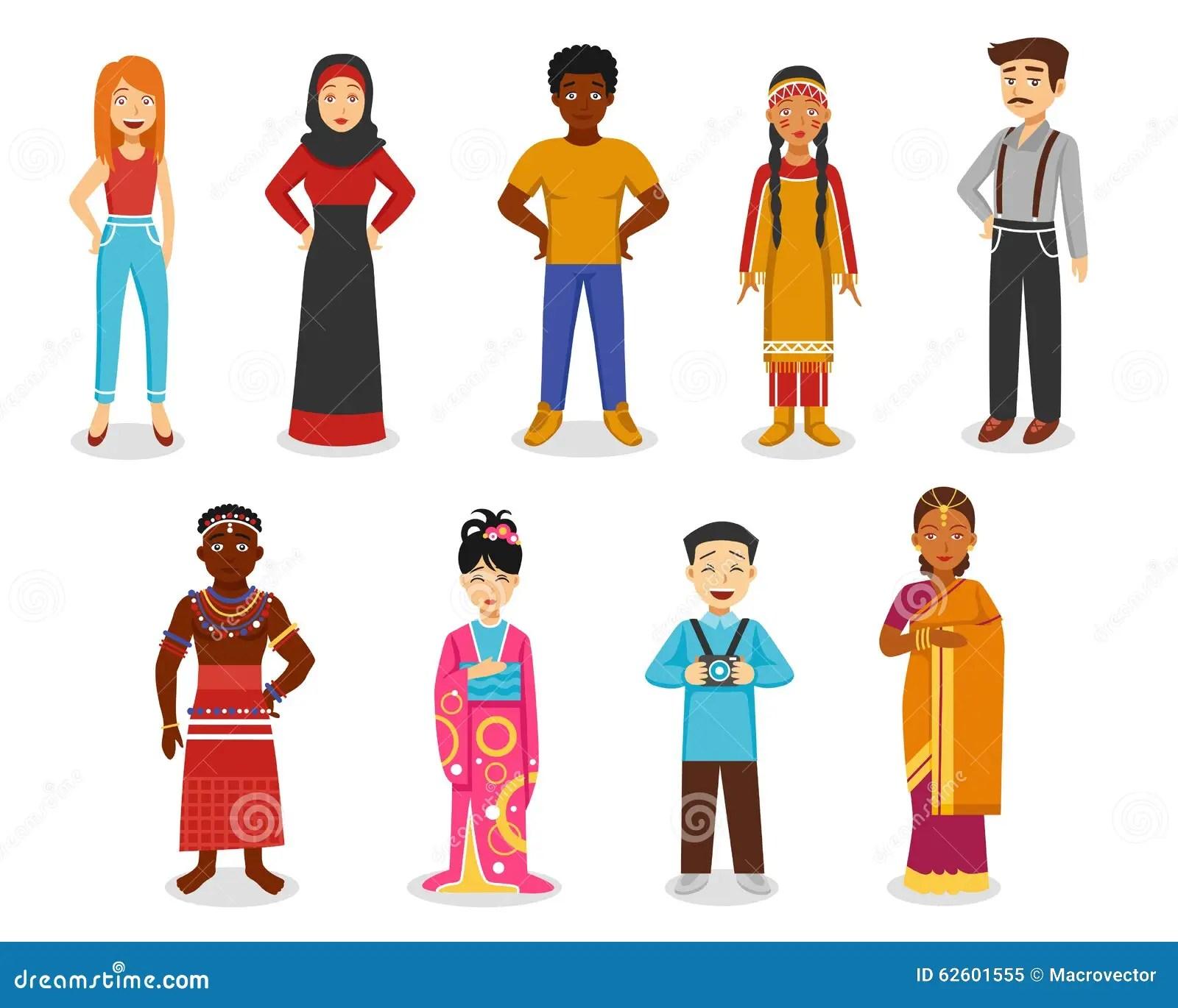 Caucasian People American Indian Cartoon