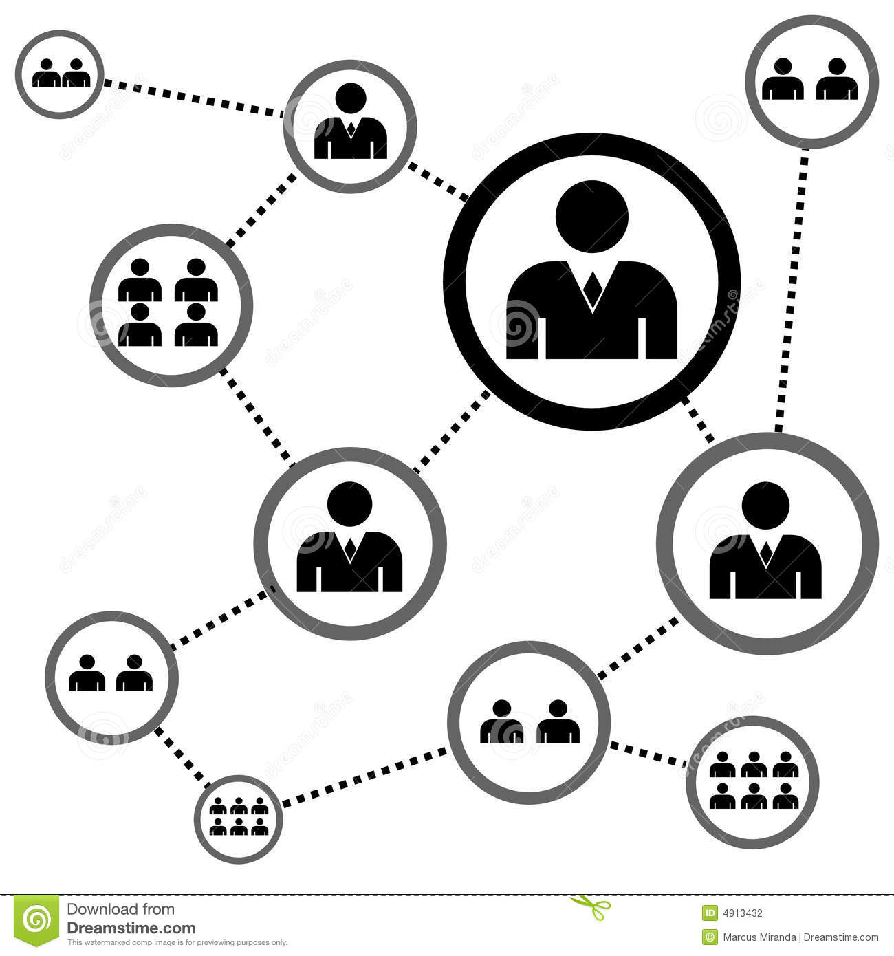 People Network Stock Vector Illustration Of Plan