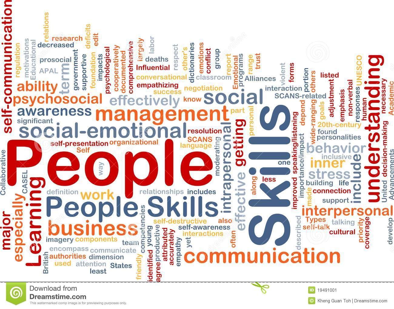 People Skills Background Concept Stock Illustration