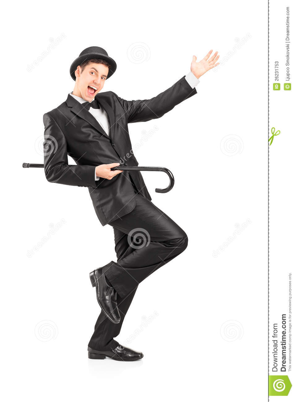 Performer Dancing With A Cane Stock Photos Image 26231753