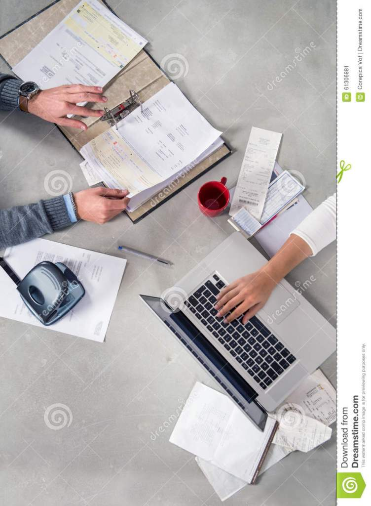 Personal Finance And Financial Stability Stock Photo Image 61306881