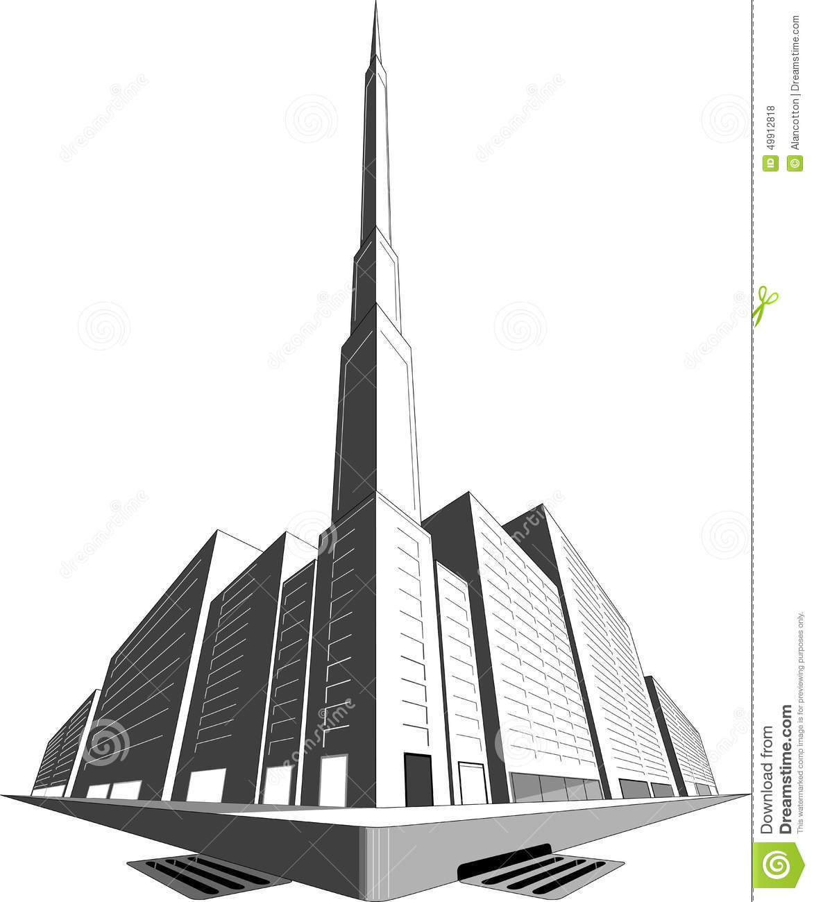 Perspective De 3 Points Illustration Stock Illustration