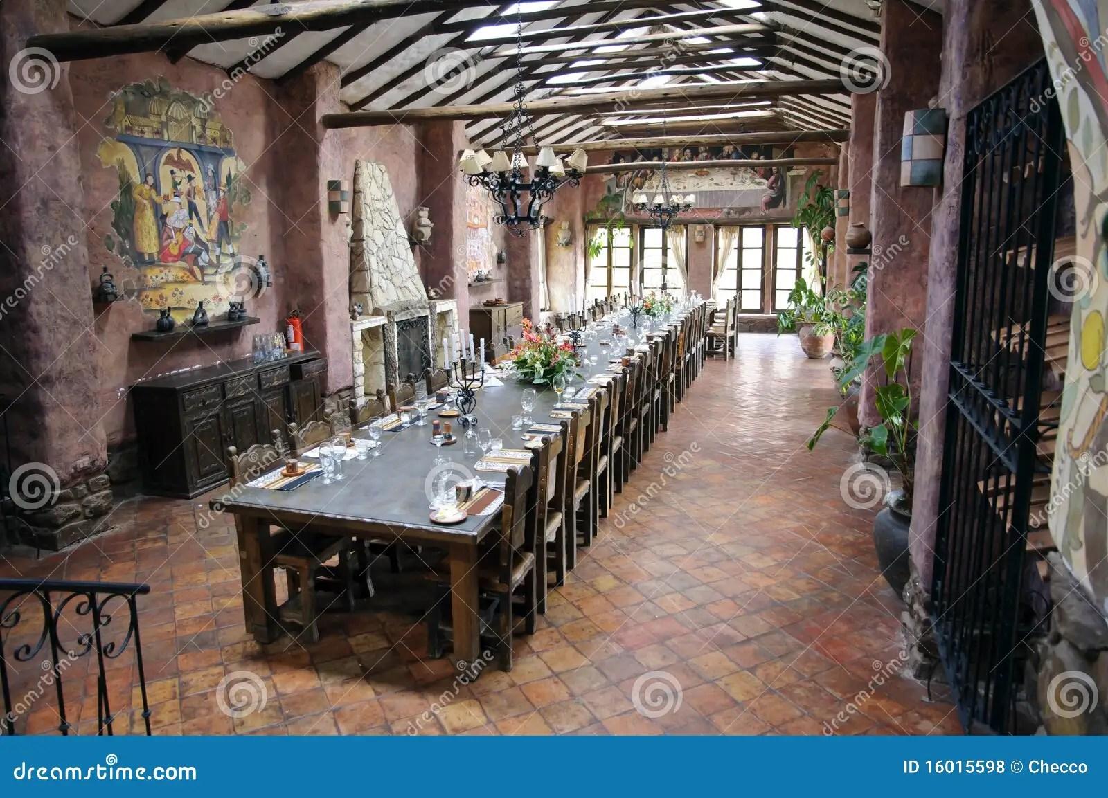 Peruvian Hacienda Interior Stock Photo Image Of Inca