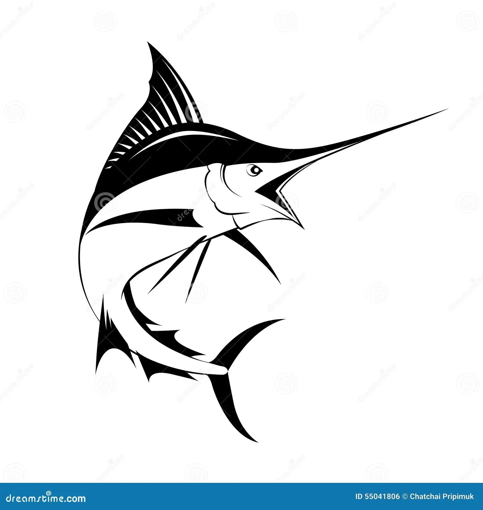 Pesce Di Marlin Vettore Illustrazione Vettoriale