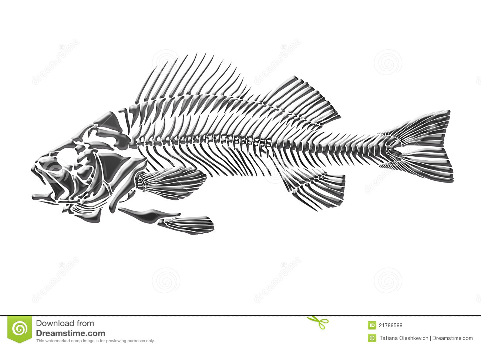 Pesci Di Scheletro Illustrazione Di Stock Illustrazione