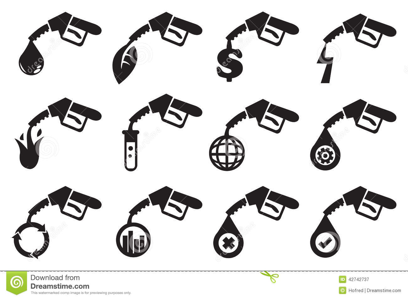 Petrol Pump Vector Icons Stock Vector Illustration Of