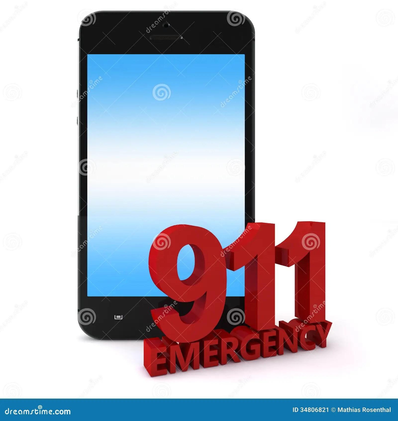 911 Phone Stock Illustration Illustration Of Icon