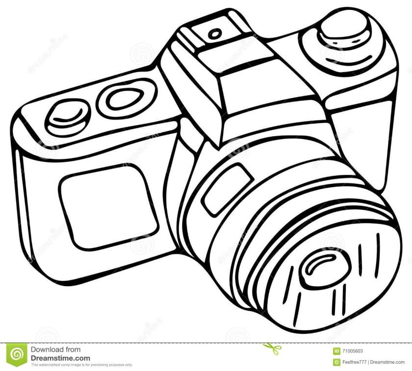 photo camera coloring pages stock illustration  image