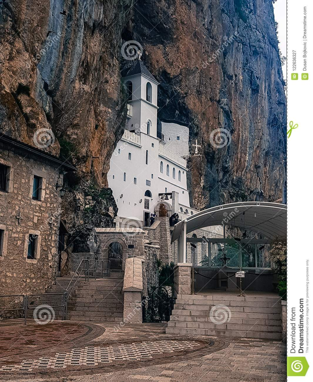 Orthodox Monastery On A Mountain From The Middle Ages