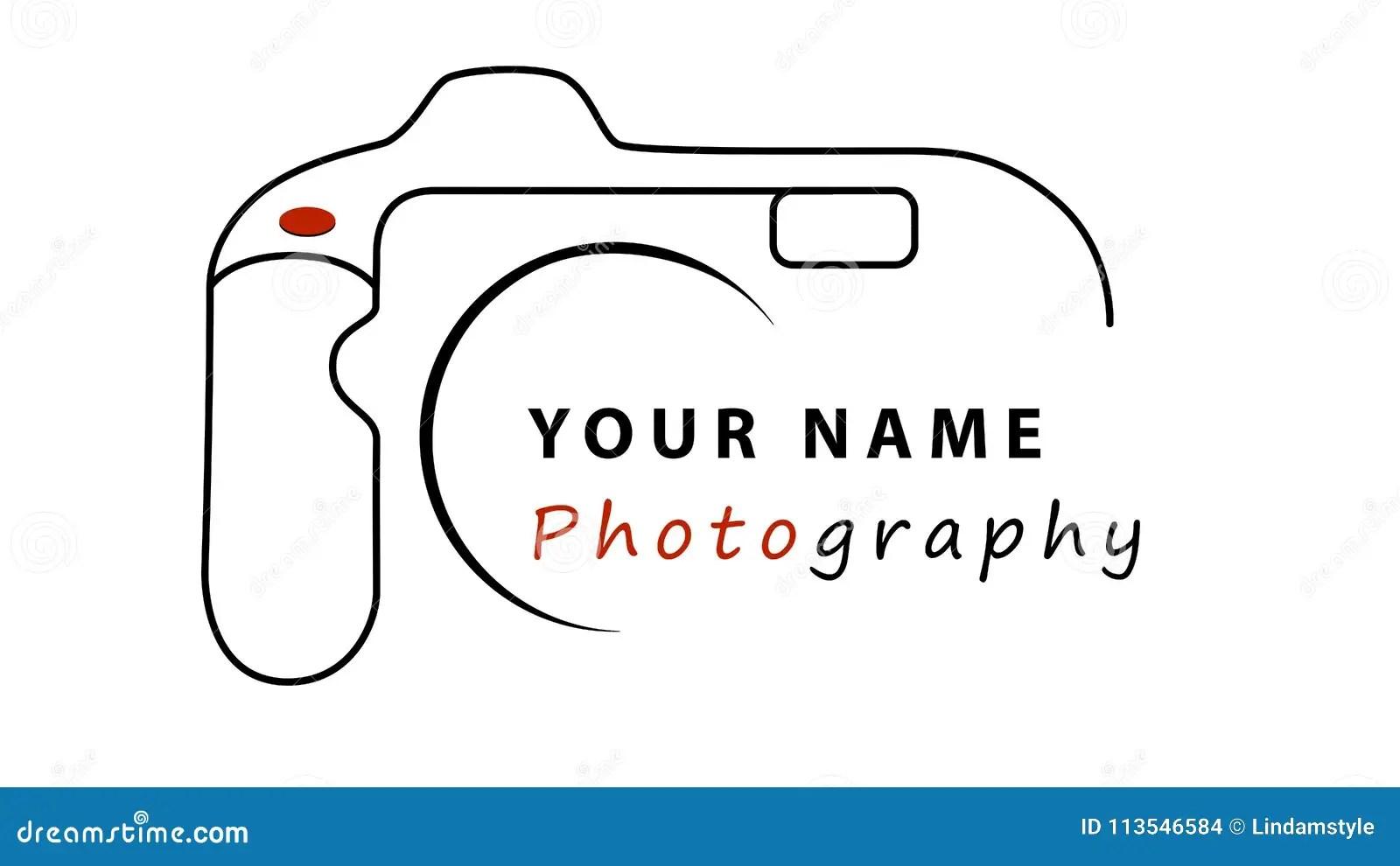 Photography Business Logo Design Stock Illustration