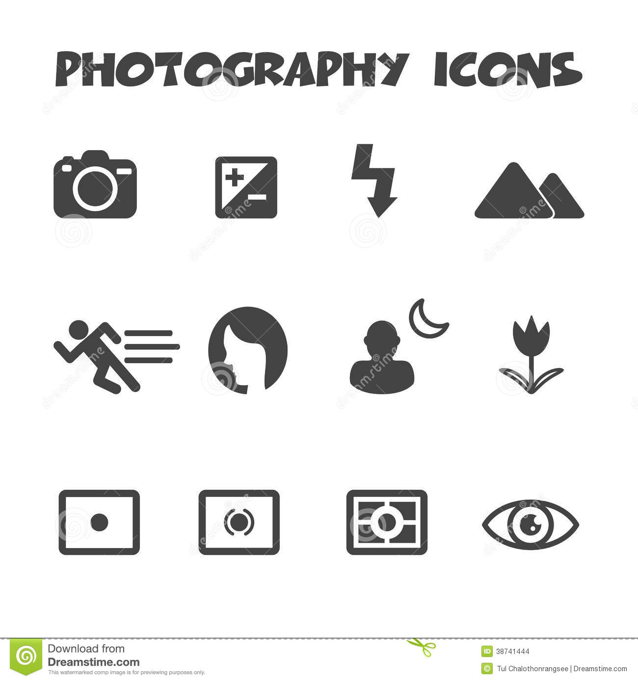Photography Icons Stock Vector Illustration Of Exposure