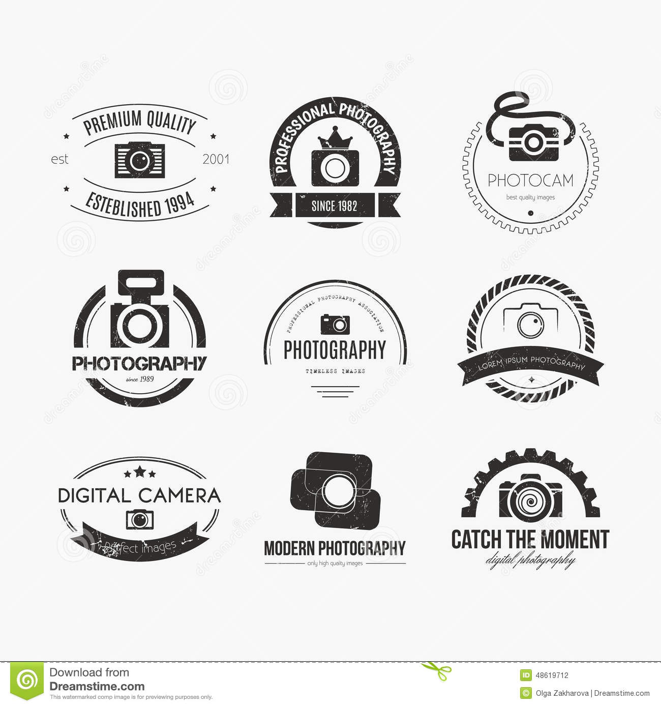 Photography Logos Stock Vector Illustration Of Focus