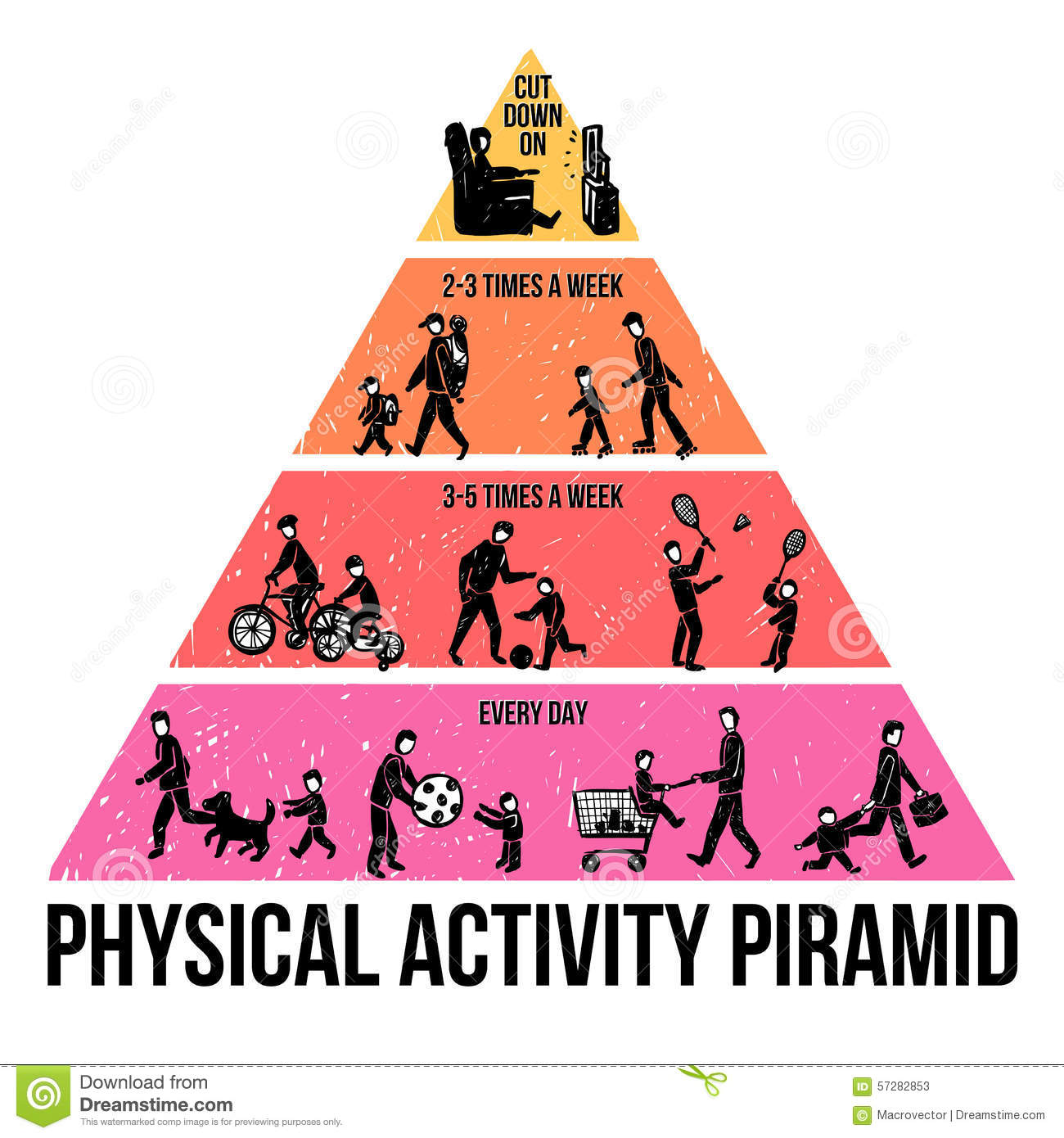 Physical Activity Infographics Stock Vector