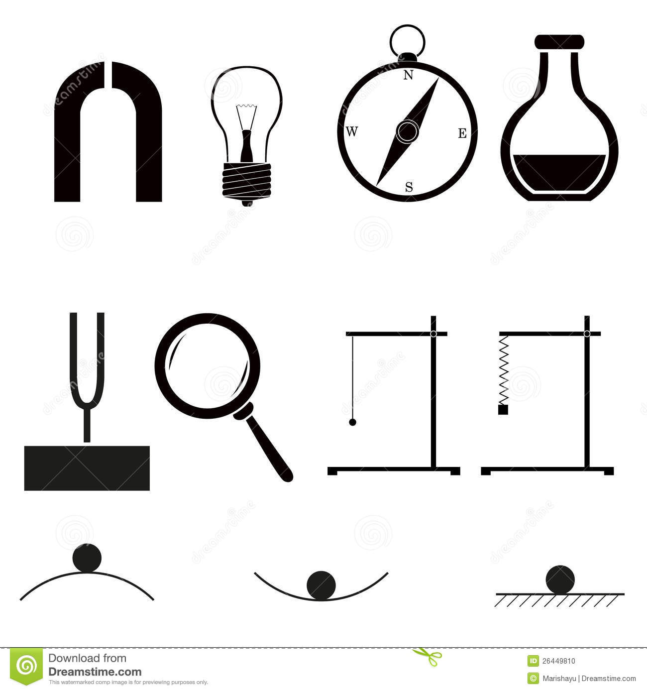 Physics Icons Stock Vector Image Of Physics Education