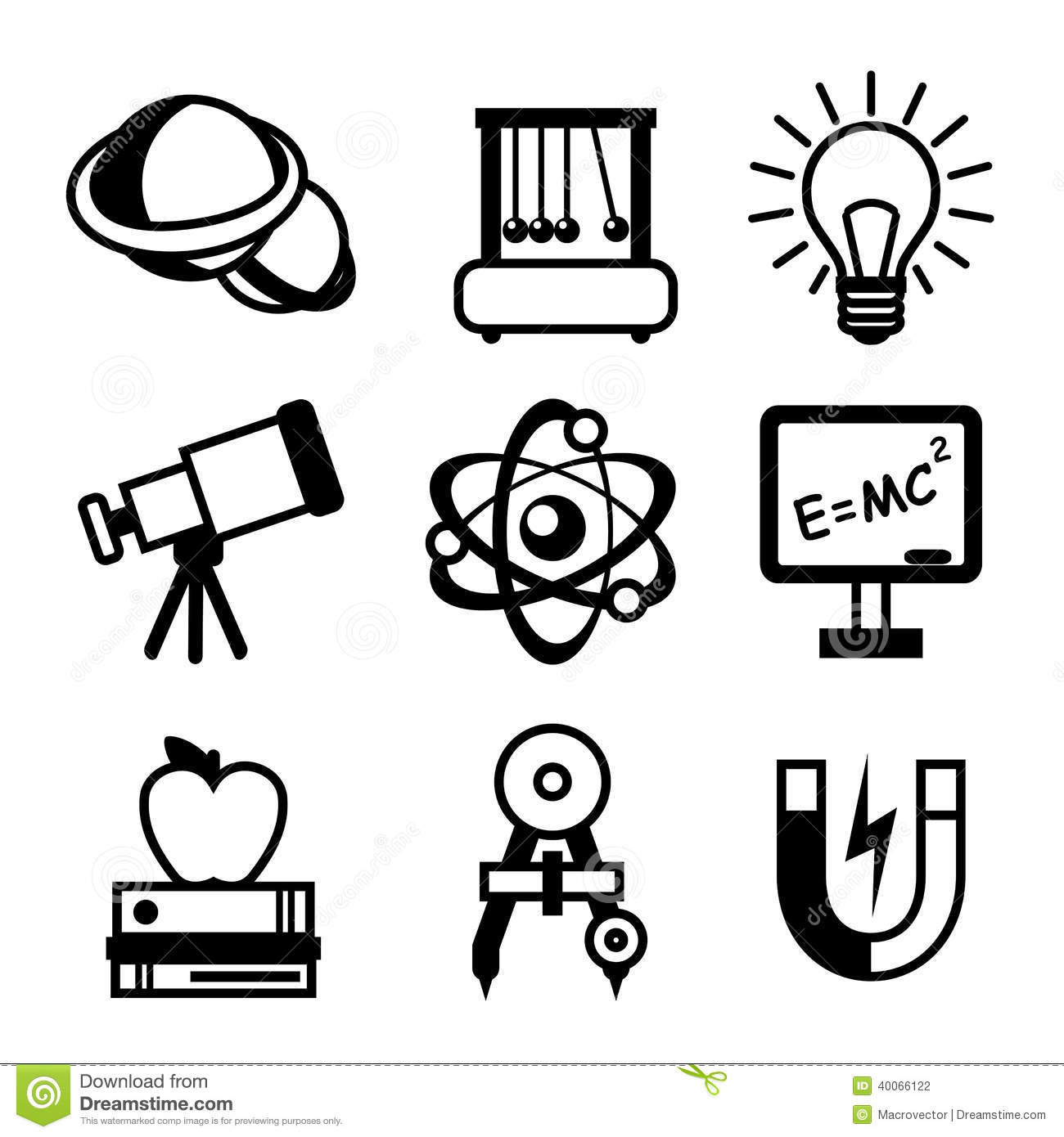 Physics Science Icons Stock Vector Illustration Of