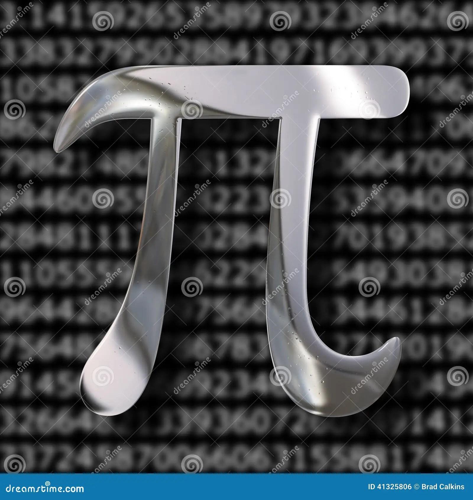 Pi Mathematics Symbol Stock Illustration Illustration Of