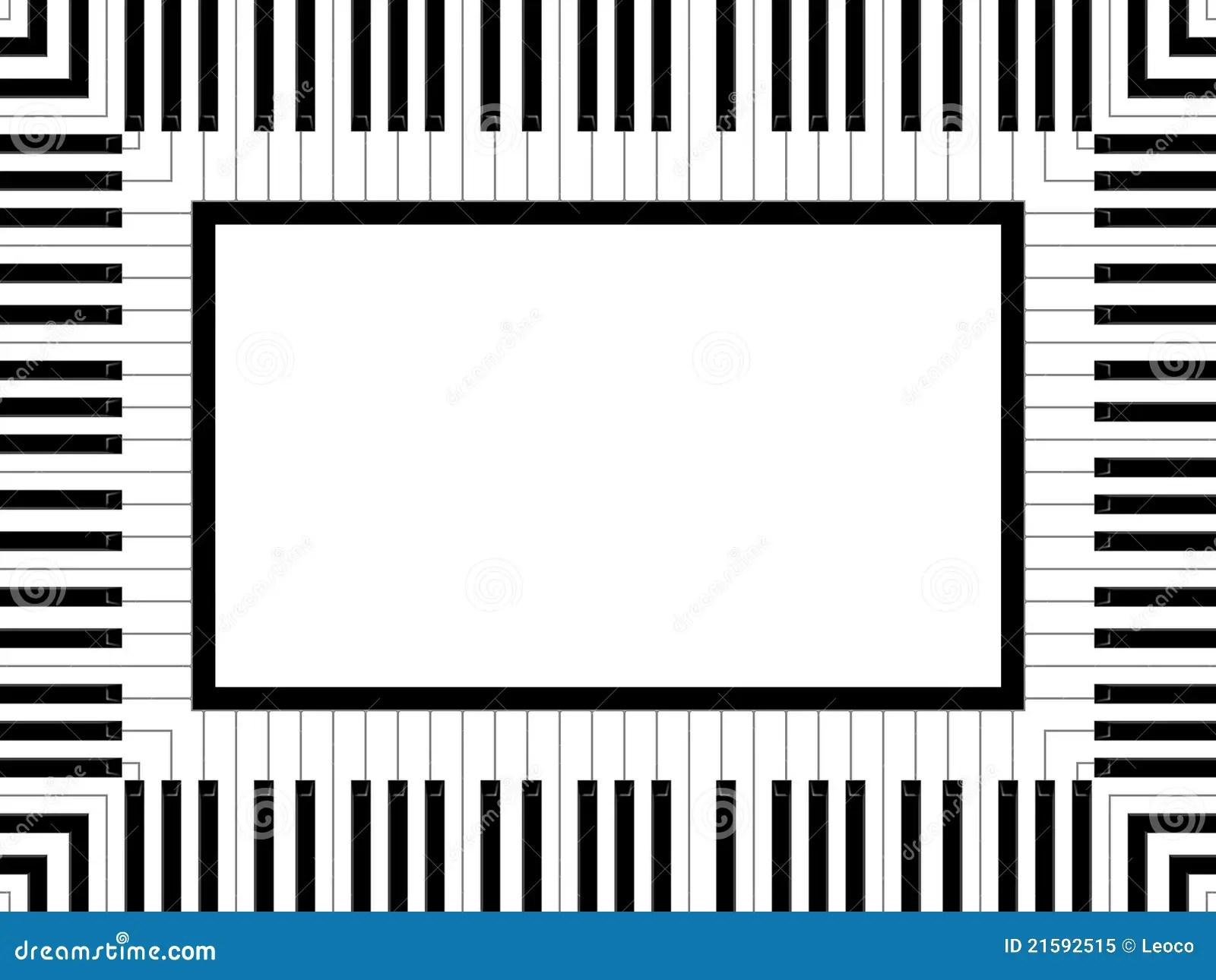 Piano Frame Stock Illustration Image Of White Frame