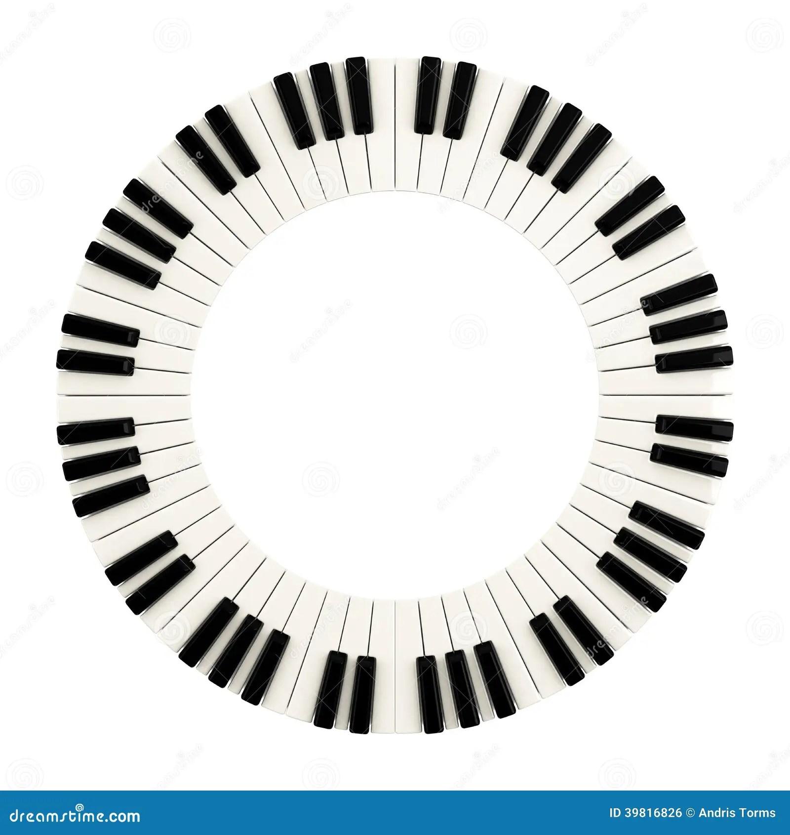 Piano Keys Circle 3d Stock Illustration Illustration Of