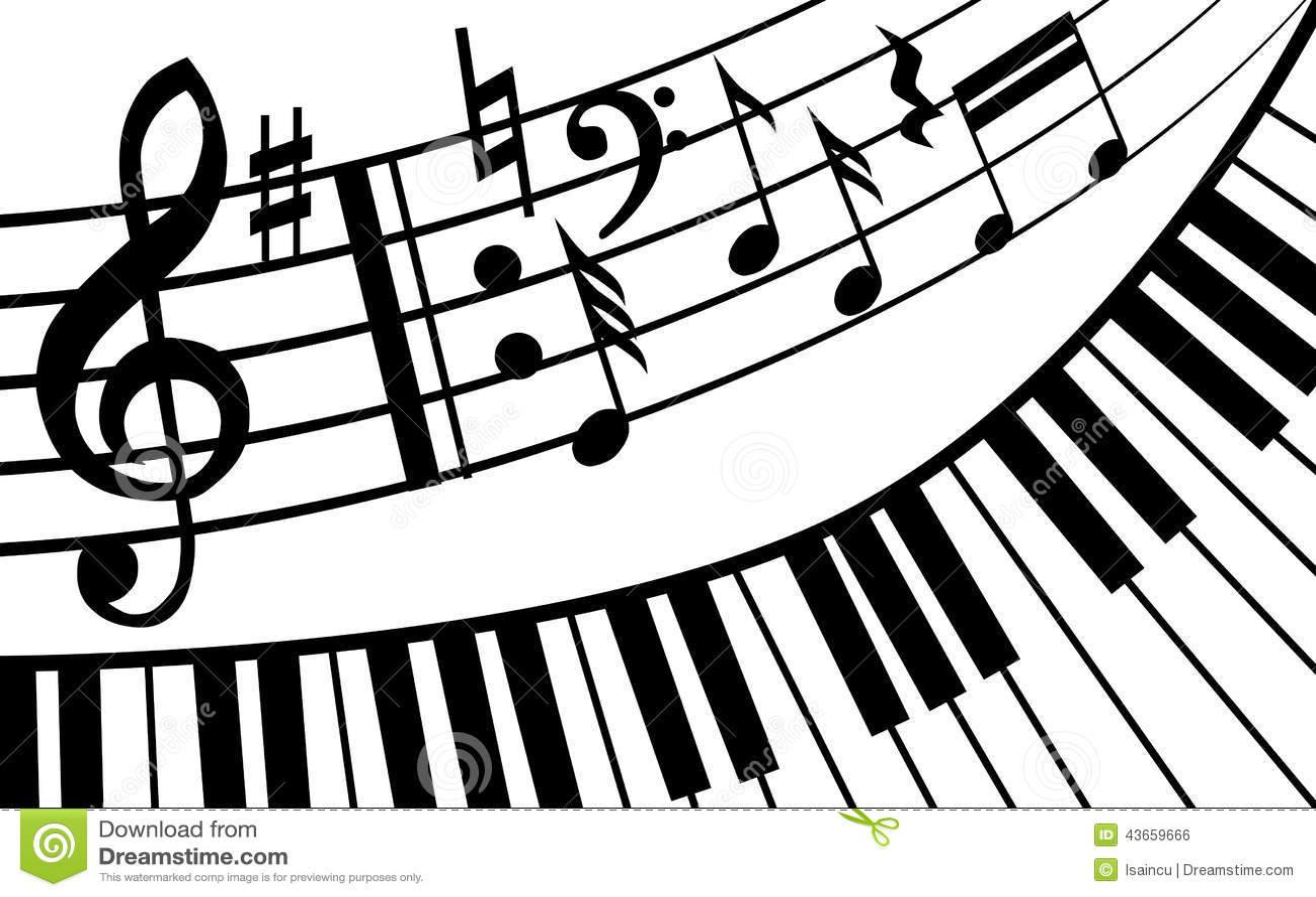 Piano Music Stock Vector Illustration Of Icon Curve