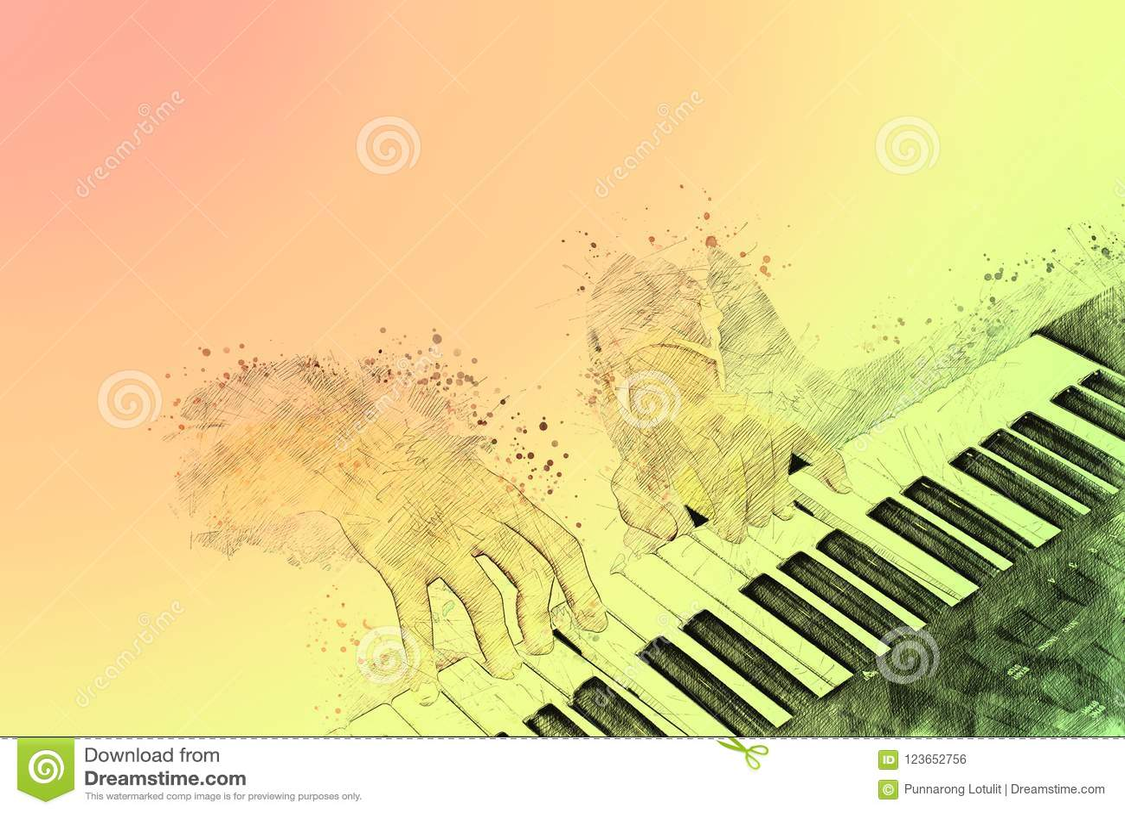 https fr dreamstime com piano fond peinture d aquarelle l illustration digital image123652756