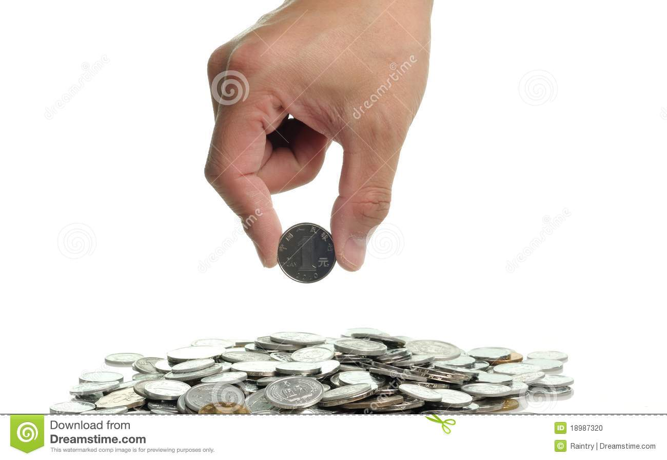 Pick Up A Coin Stock Photo Image 18987320