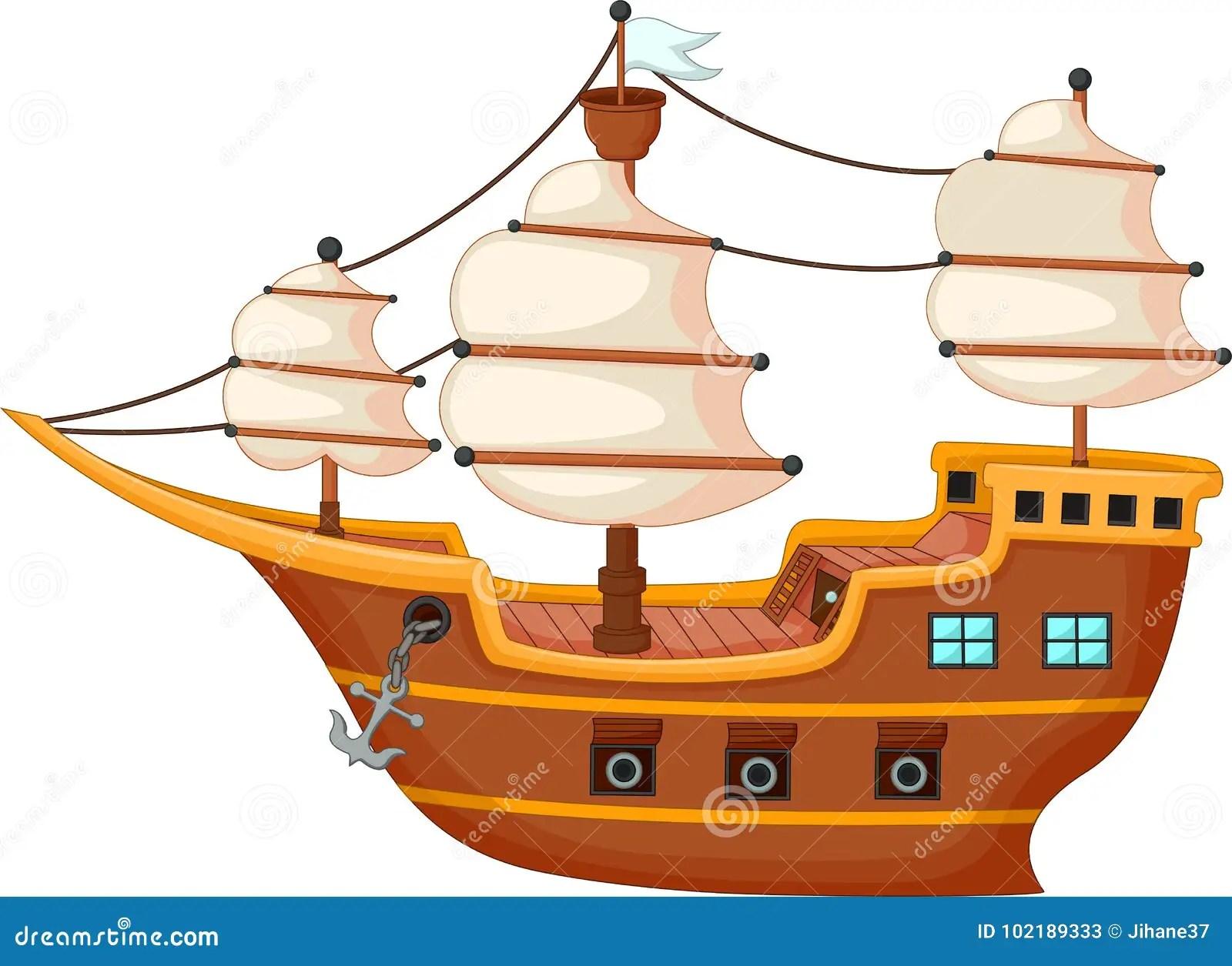 Cartoon Yacht Vector Illustration