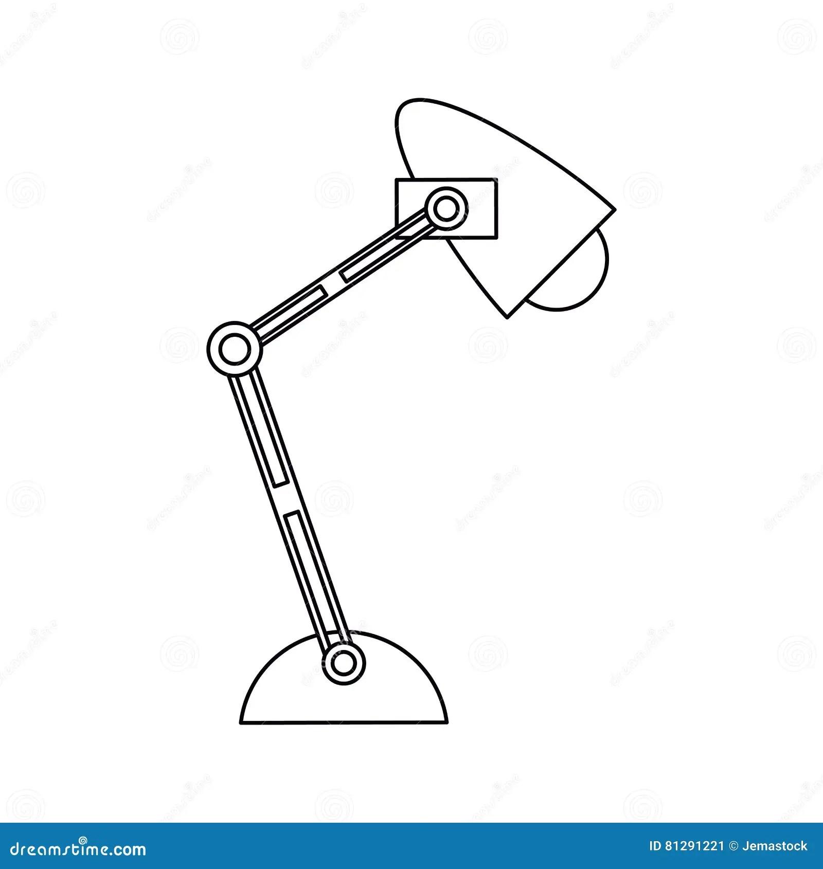 Pictogram Office Desk Lamp Light Icon Stock Vector