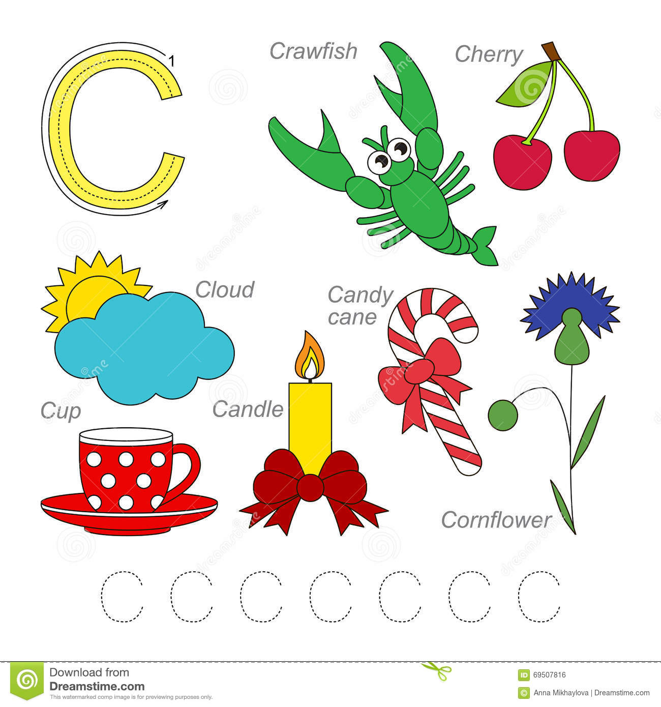 Pictures For Letter C Stock Vector Illustration Of