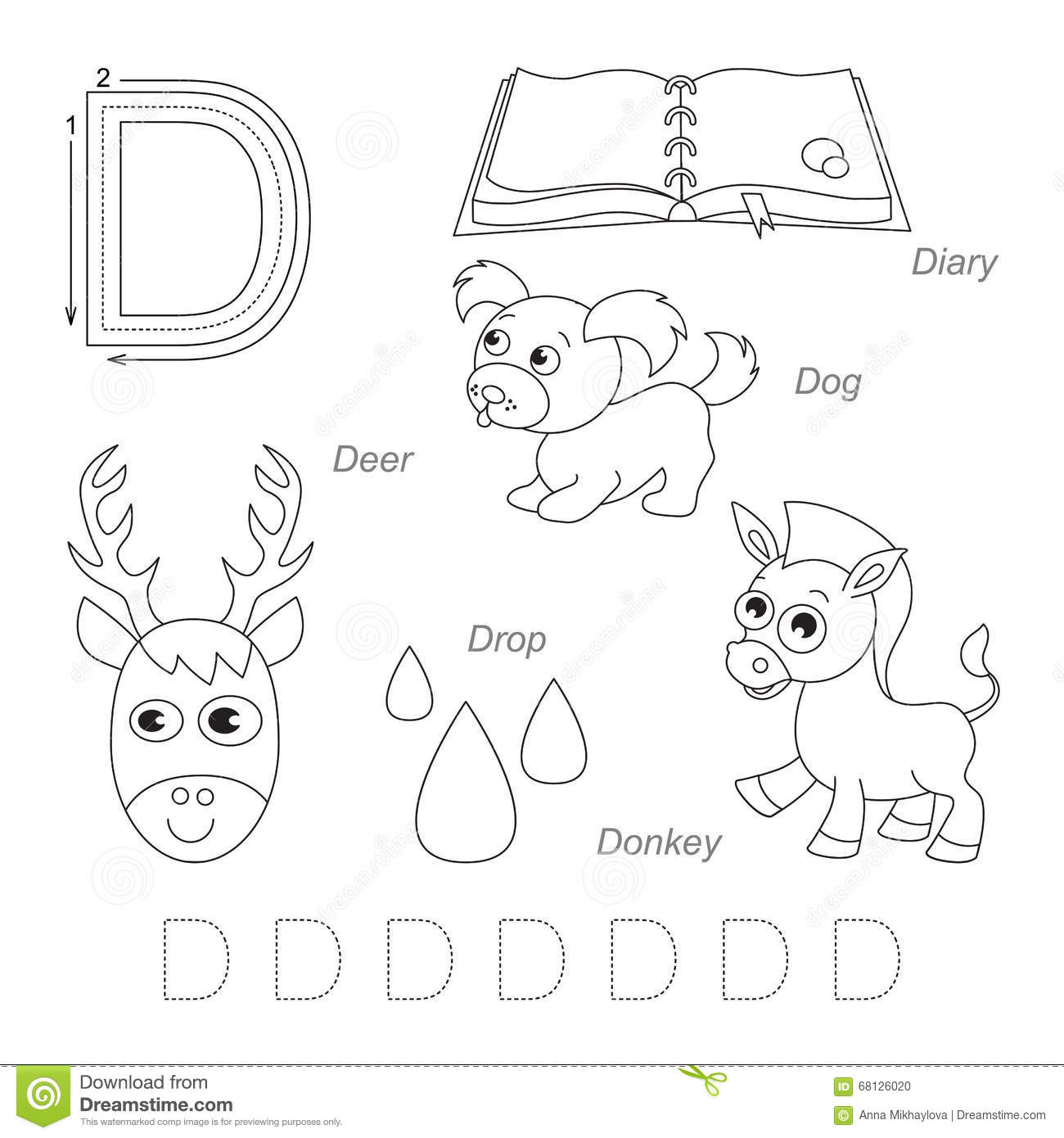 Pictures For Letter D Stock Illustration Illustration Of Children